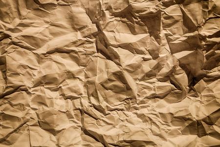 rumpled: Abstract rumpled brown cardboard old  paper