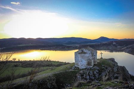 Saint John Letni is a medieval chapel on the  Pchelina dam ,Bulgaria photo
