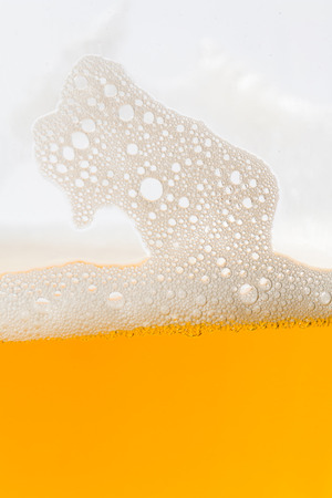 beer bubbles: Close up of beer bubbles