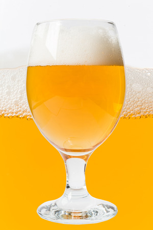 draughts: glass of beer on beer background