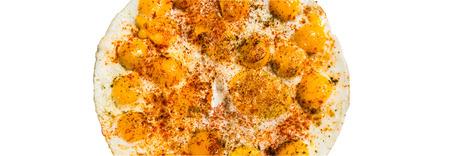 omlet: Quail egg omelette isolated