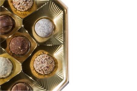 pralines: delicious chocolate pralines Stock Photo