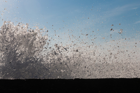 big waves: Big waves break on the beach Bolata, Bulgaria