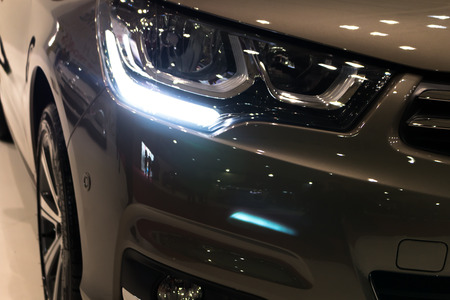 Luxury car headlight detail Standard-Bild