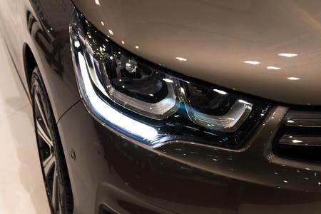 headlight: Luxury car headlight detail Stock Photo
