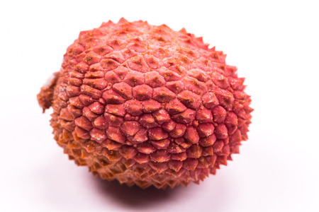 litchee: fresh lychees on white background