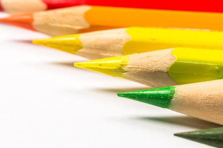 assortment: Assortment of coloured pencils Stock Photo