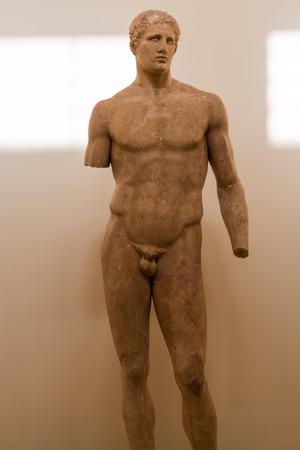 templo romano: Museo de Delphi, Grecia Editorial