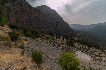 Archaeological Site of Delphi, Greece Stock Photo