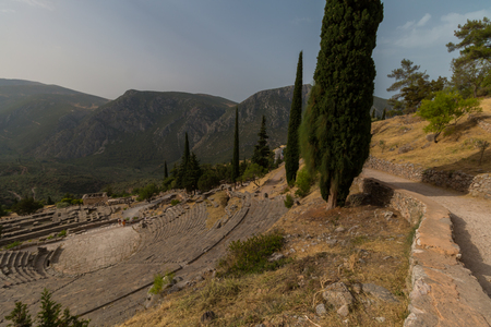 archaeological: Archaeological Site of Delphi, Greece Stock Photo