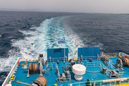 rough sea: Rough sea as seen from ferry, Greece