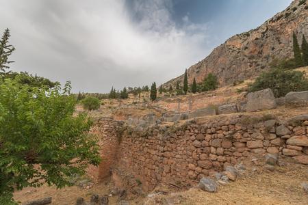 delfi: Archaeological Site of Delphi, Greece Editorial