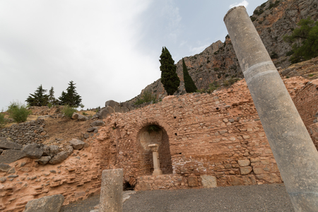 delphi: Archaeological Site of Delphi, Greece Stock Photo