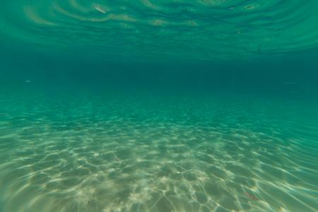 beneath the surface: Sea deep or ocean underwater Stock Photo