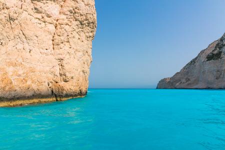 zakynthos: Navagio Beach with shipwreck in Zakynthos, Greece