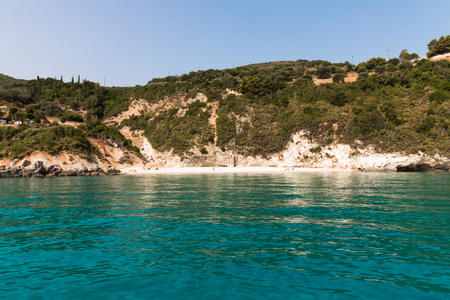 Xigia with a sulphur and collagen spring on the island of Zakynthos, Greece. Stock Photo