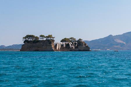 cameo: Cameo (Agios Sostis), small island in Zakynthos Stock Photo