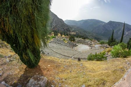 delfi: Archaeological Site of Delphi, Greece Stock Photo