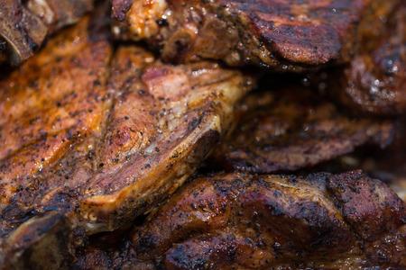 grilled pork chop: Grilled Pork Chop on  BBQ Grill
