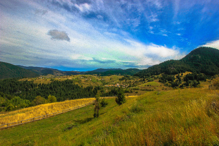 Landscape of Rhodope mountain, Bulgaria