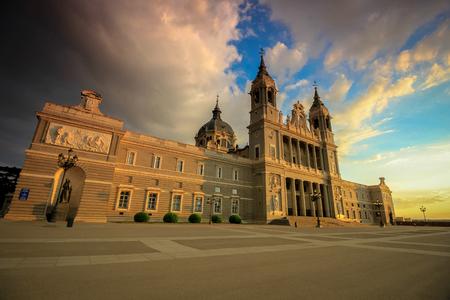 La Almudena Cathedral - Madrid, Spain Stock Photo