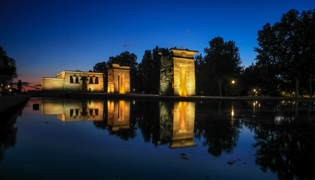 debod the temple of debod templo de debodmadrid stock photo