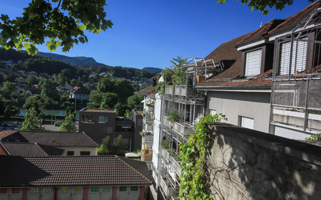 Views from the beautiful city of Aarau, Switzerland Stock Photo