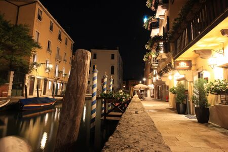 Night walk through the quiet streets of Venice.