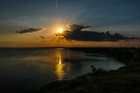 Sunset landscape from Kaliakra Cape at Black Sea Coast, Bulgaria