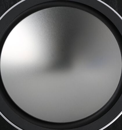 Close up low frequency speakers, membrane audio speaker Standard-Bild