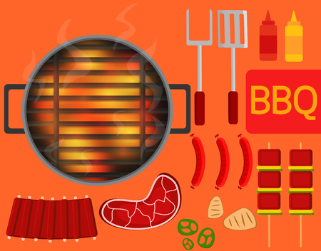 Barbecue equipment and  Especially  hot grill.