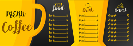 menu coffee background graphic design vector illustrations