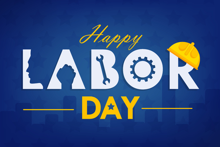 Labor day background design vector template