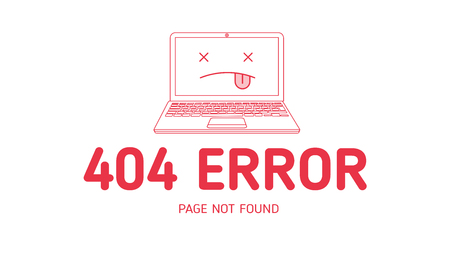 404  error with icon notebook design template for website with white background graphic