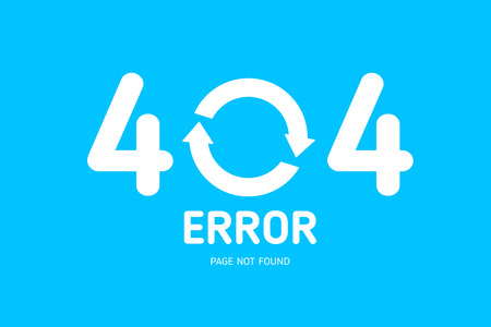 404  error with restrat icon notebook design template for website