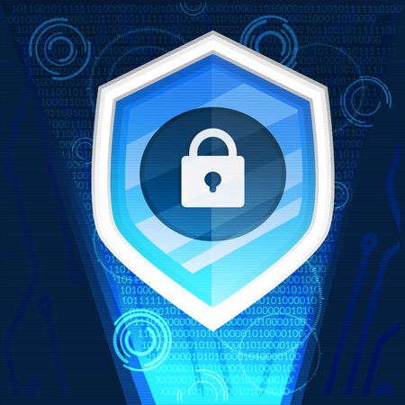 cyber security background graphic vector illustration