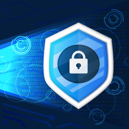 cyber security light background graphic vector illustration