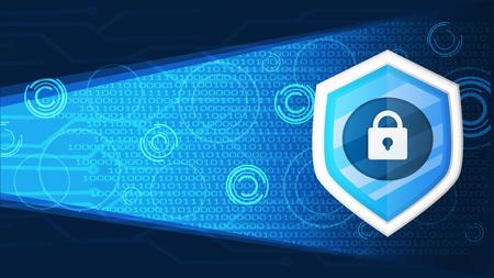 cyber security banner background graphic vector illustration Vektoros illusztráció