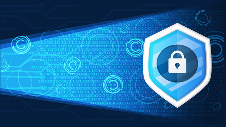 cyber security banner background graphic vector illustration Illustration