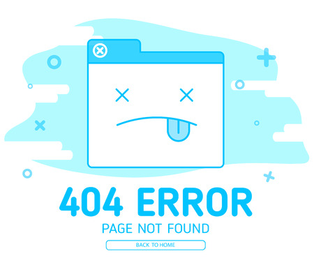 404 error with icon tab website error design template for website with blue background graphic