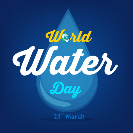 World Water Day background , greeting card or poster for campaign save water concept