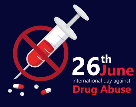 international day against drug abuse banner vector