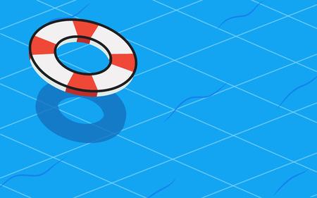 swim tube with swimming pool graphic background Illustration