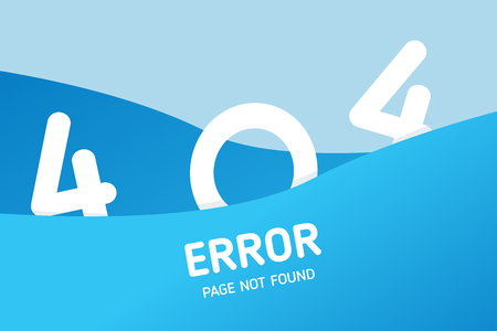404  error with wave graphic vector design template for website Illustration