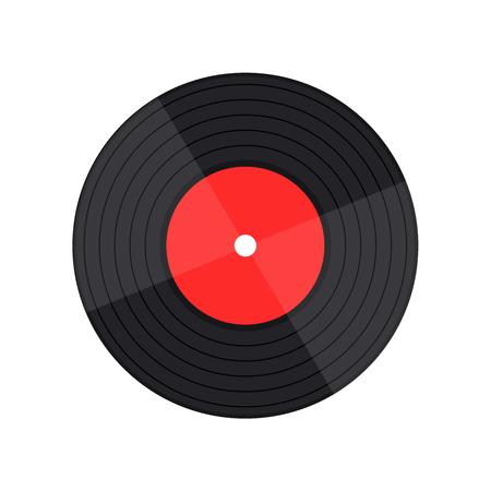 Schallplattenmusikvektor mit Schallplattenwort Vektorgrafik