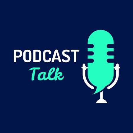 logo or icon podcast talk with light color,vector graphic Illustration