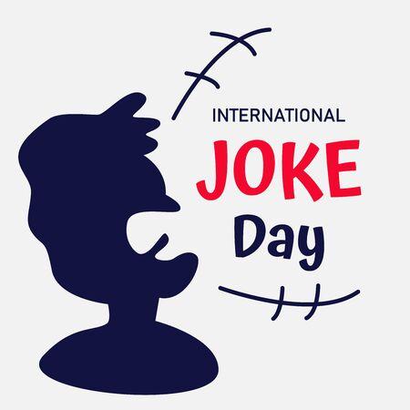 Fondo de vector de día internacional de broma o banner gráfico