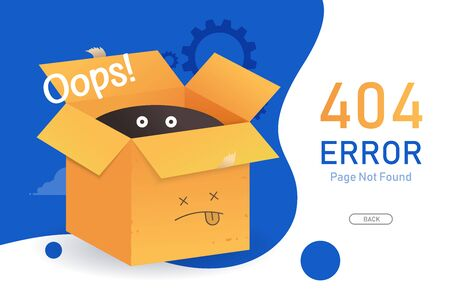 404  error page not found vector with bow graphic  design template for website background graphic