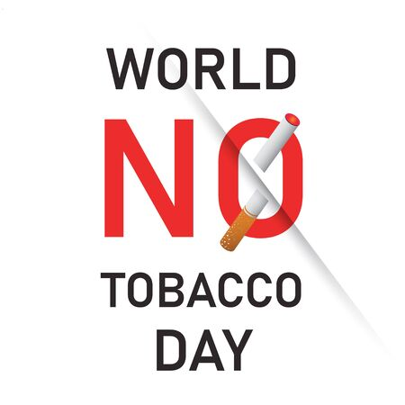 world no tobacco day text background , greeting card or poster for campaign stop smoking