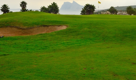 bunker: Golf course in the south of Spain, within reach of  Gibraltar